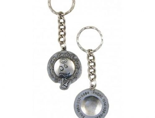 Contemporary Beads and Castings Custom Made Logo Key Ring