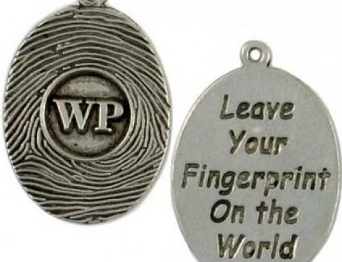 Custom Made Fingerprint Message Charms